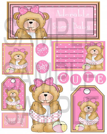 Adorable Sweet Baby Pink - Emailed as JPEG File-Commercial and Personal Use