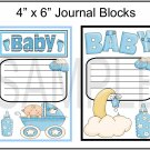 Baby Boy Journal blocks - Emailed as JPEG File-Commercial and Personal Use