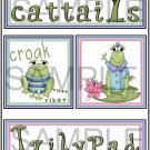 Cattails and Lilypad- Emailed as JPEG File-Commercial and Personal Use