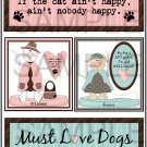 If The Cat /Must Love Dogs- Emailed as JPEG File-Commercial and Personal Use
