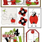 Ladybug Hugs - Emailed as JPEG File-Commercial and Personal Use