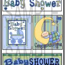 Baby Shower Boy - Emailed as JPEG File-Commercial and Personal Use