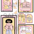 Baby Shower Girl 2br - Emailed as JPEG File-Commercial and Personal Use