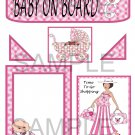 Baby On Board Girl 1 - Emailed as JPEG File-Commercial and Personal Use