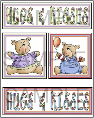Hugs and Kisses  - Emailed as JPEG File-Commercial and Personal Use