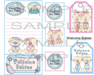 Welcome Babies sc  - Emailed as JPEG File-Commercial and Personal Use