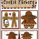 Cookie Factory/Warm Gingerbread Wishes - Emailed as JPEG File-Commercial and Personal Use