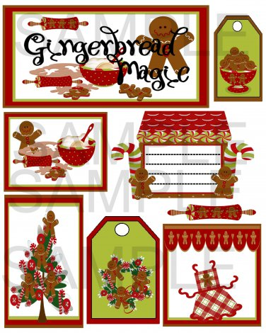 Gingerbread Magic s - Emailed as JPEG File-Commercial and Personal Use