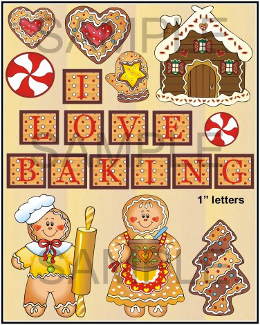 I Love Baking - Emailed as JPEG File-Commercial and Personal Use