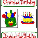 Christmas/Christmas Day Birthday - Emailed as JPEG File-Commercial and Personal Use