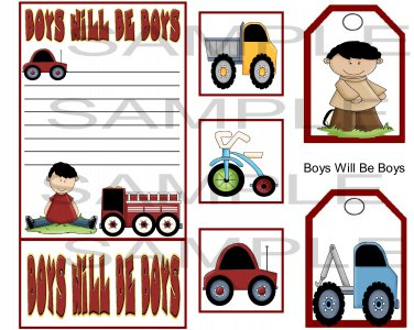 Boys Will Be Boys sc - Emailed as JPEG File-Commercial and Personal Use