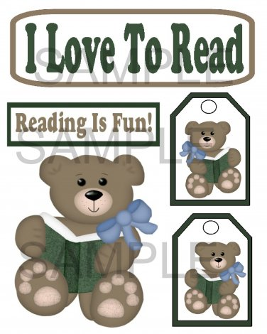 I Love To Read - Emailed as JPEG File-Commercial and Personal Use