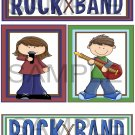 Rock Band Boy/Girl - Emailed as JPEG File-Commercial and Personal Use