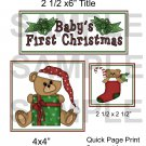 Baby's First Christmas ab - Emailed as JPEG File-Commercial and Personal Use