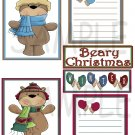 Beary Christmas/Winter - Emailed as JPEG File-Commercial and Personal Use