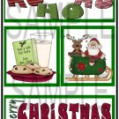 Ho Ho Ho/Merry Christmas tb- Emailed as JPEG File-Commercial and Personal Use
