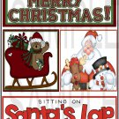 Merry Christmas/Sitting On Santas Lap tb- Emailed as JPEG File-Commercial and Personal Use