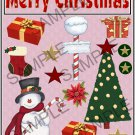 Merry Christmas Frosty s - Emailed as JPEG File-Commercial and Personal Use
