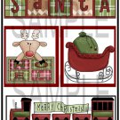 Santa/Merry Christmas Train tb - Emailed as JPEG File-Commercial and Personal Use