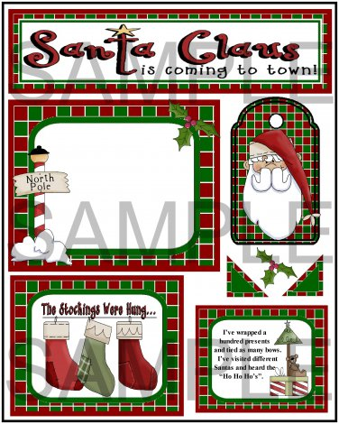 Santa Claus Is Coming To Town s - Emailed as JPEG File-Commercial and Personal Use