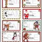 Set 2 Gift Tags -  Emailed as JPEG File-Commercial and Personal Use
