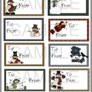 Set 4 Gift Tags -  Emailed as JPEG File-Commercial and Personal Use