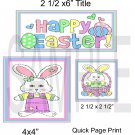 Happy Easter Bunny qp-  Emailed as JPEG File-Commercial and Personal Use