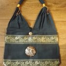 HAND CRAFTED BLACK ELEPHANT SHOULDER BAG QUALITY PRODUCT FROM THAILAND