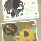 SAVE AND PROTECT THE ELEPHANT TWO POSTCARDS FROM THAILAND