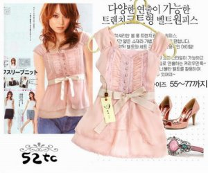 Pretty Pink Blouse with Ribbon