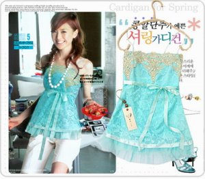 Cool Blue Lace Top