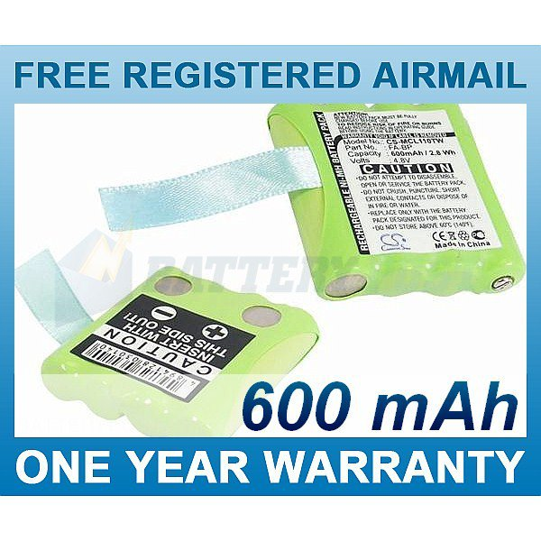 BATTERY FOR MICROTALK 80 85 100 110 115 200 300 PR500 PR900