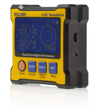 DXL360 Digital Protractor Inclinometer Angle Meter Dual Axis Level Box