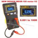 MESR-100 AutoRanging In Circuit ESR Capacitor /Low Ohm Meter Up to 0.01 to 100R