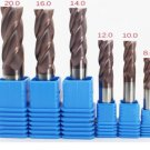 End Mill Tool Set 4 Flute Carbide Endmill CNC Parts - 6pcs TAPC Milling 8-20mm