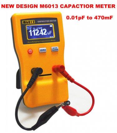 Capacitor Meter Measure Capacitance Cap Tester Auto Range Detection 0.01pF-470mF