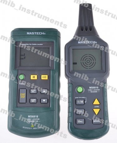 MS6818 Wire Cable Tracker Metal Pipe Locator Detector Tester Meter AC/DC 12~400V