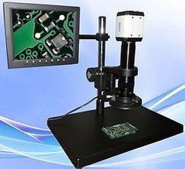 """Lab Digital Microscope 10-155X with USB VGA output with 8"""" LCD and light source"""