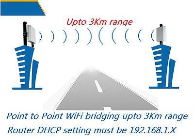 Long Range WIFI Repeater AP Bridge Antenna 3Km range 300M ship by DHL