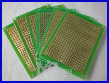 FR4 5x7cm Prototyping DIY PCB Board Prototype x6pcs