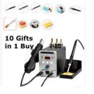 Hot Air Gun 2IN1 REWORK STATION Soldering Desoldering Iron WorkStation 8586Model