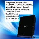 NETGEAR 90% New R6300V2 DualCore 800Mhz w/ Merlin AsusWRT FW DD-WRT 100% Working