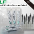 2pcs 0.9mm Diameter HRC55 CNC Mirco Grain Carbide Endmill 2-Flute End Mills