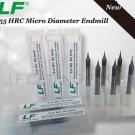 2pcs 0.3mm Diameter HRC55 CNC Mirco Grain Carbide Endmill 2-Flute End Mills