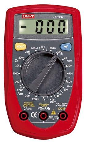 UT33D Palm Size Digital Multimeter Electrical Meter