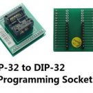 ZY-532A IC Socket QFP32 to DIP32 Programming Adapter ZY532A
