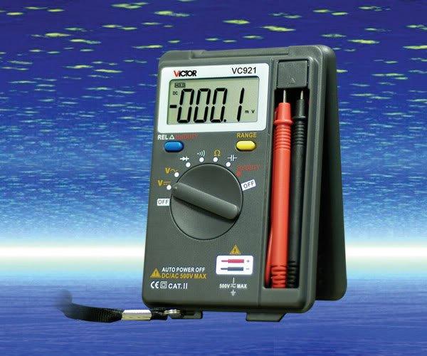 VC921 DMM Mini Integrated Handheld Pocket Size Digital Multimeter Auto Range