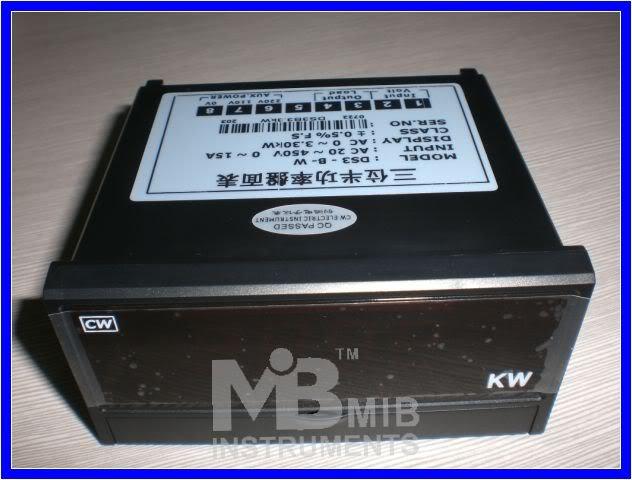 3 1/2 3300w Digital watt meter Manual LED Panel meter