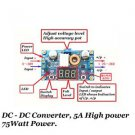 Electronic Kit DC-DC Converter High Efficiency 95% 5A 75W Power use LM2596 IC