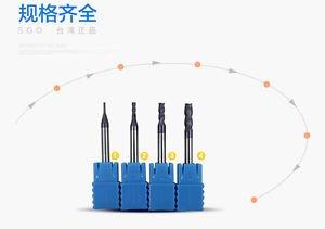 SGO HRC55 Carbide CNC Endmill Bit 1~4mm 4pcs Micro Grain Mill-Bit CNC Tool part